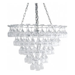 Vino Wine Glass Chandelier Large