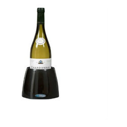RAVI - RAVI Iceberg, Black - The Wine Iceberg will keep your wine bottle as cold as an ice bucket. Keep your table dry and clean. No ice cubes! No mess!