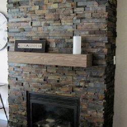 Fireplace Mantels - Installing a simulated wood fireplace mantel shelf is far easier than the real wood alternative while still providing the same great look.
