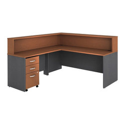 "BBF - Bush Series C 4-Piece L-Shape Reception Computer Desk in Auburn Maple - Bush - Reception Desks - WC48536PKG2 - Bush Series C 48"" Return Bridge in Auburn Maple (included quantity: 1) The Bush Series C Return Bridge offers you a refined approach to expanding your workspace. This fine return bridge merges beautifully with any Bush Series C Desk and other Series C furniture to contribute to a powerful total package.  Features:"