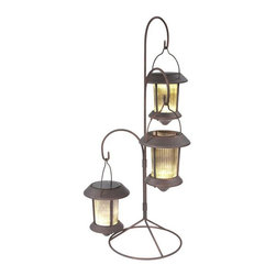 Hold All - Hold All Path & Landscape Lights Outdoor Solar Hanging Lites with Stands Path - Shop for Lighting & Ceiling Fans at The Home Depot. Hold-All LED Solar Lites lend a decorative touch day or night to gardens patios and walkways. Accent your patio or outdoor area with this three tiered hanging lantern set. Also accents tabletops stairways and more. Weathered black finish complements any decor.