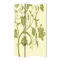 Avery Screen - Floral motifs are always an elegant way to add a soft touch to your home. Display either side of this whimsical design for added privacy or a pop of color and pattern. It's the easiest addition to your stylish home.