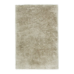 Capel - Shag Trolley Line 8'x11' Rectangle Ivory Area Rug - The Trolley Line area rug Collection offers an affordable assortment of Shag stylings. Trolley Line features a blend of natural Chocolate color. Hand Tufted of 100% Polyester the Trolley Line Collection is an intriguing compliment to any decor.