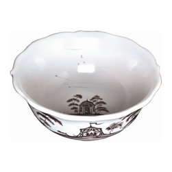 """Juliska - Juliska Country Estate Cereal-Ice Cream Bowl Flint Hen House - Juliska Country Estate Cereal/Ice Cream Bowl Flint Hen HouseThis bowl serves as perfect vessels for the morning cereal or your proverbial cherries. Life is lovely when you have a bowlful. Featuring: Hen House, Tea Party Tent, Apple Orchard, and Rose ArborDimensions: 6.5"""" W x 3"""" H Capacity: 13 oz"""