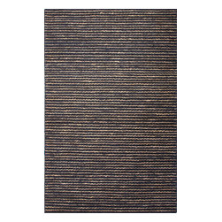 Jaipur Rugs - Naturals Stripe Pattern Hemp Gray/Taupe Area Rug ( 3x5 ) - Crafted of natural jute, each rug is expertly woven by hand to our impeccable standards of quality for a relaxed feel of comfort.The textured loops are accented with a thin woven stripe.