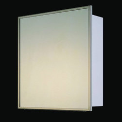 Ketcham - Ketcham 24W x 36H-in. Deluxe Recessed Medicine Cabinet - 192 - Shop for Bathroom Cabinets from Hayneedle.com! It's just another hanging mirror right? Wrong! The Ketcham 24W x 36H-in. Deluxe Recessed Medicine Cabinet is a modern addition to your bathroom that makes way for a plethora of medicines and toiletries. This recessed unit features a space-saving design that boasts a 3/16-inch first quality plate glass mirror on a continuous full-length piano hinge. The cabinet is fabricated with 20-gauge white baked enamel steel for long lasting durability and is fitted with .25-inch adjustable glass shelves mounted on locking adjustable aluminum clips so you can adapt the interior to make room for the items you need most. The Deluxe Recessed Medicine Cabinet can be reversed during installation for a right or left-handed door swing. Measures 24W x 3D x 36H inches and meets all HUD housing and federal specifications.About Fred Silver & CompanyFor the past 40 years Fred Silver & Company has manufactured goods under the Ketcham name and in that time the brand has become a leading producer in superior quality affordable medicine cabinets. Based out of Ronkonkoma New York but respected from coast to coast Ketcham is an American company that's taken the nation by storm. Good word of mouth has made Ketcham the go-to choice for architects remodelers and property managers. Even everyday customers are paying close attention to these fine cabinets that are made to last and to fit the budget of the average family. Ketcham prides itself on offering an expansive selection made from the best materials backed by a staff that's always available to answer inquiries regarding sales and installation.