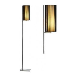 "SLV lighting - LASSON SL-1 Floor Lamp - Product Details:    The Lasson SL-1 floor luminaire has been designed for SLV.  This round luminaire has a versions of chrome and black. Also available in table, floor and ceiling models. Powered by energy efficient 20W, 2700K bulb lighting. Accessory including foot switch in power feed.  Details:                                              Manufacturer:                                          SLV                                                              Designer:                                          In-house design                                                              Dimensions:                                          Height Max: 66.4 "" (168 cm) X Width: 10.2 "" (25.9 cm)                                                              Light bulb:                                          1 X 40W E26 Self ballasted CFL (excl.)                                                              Material:                                          Steel, Textile                                  ETL listed - certified for use in the U.S. and Canada and all other countries worldwide."