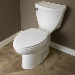 """American Standard Cadet 3 Elongated Toilet 10"""" Rough - Smarter design for higher performance and fewer clogs – all at a great price. The Cadet® 3 series toilets come in a variety of styles; one piece and two piece models, elongated and round front bowls, right height and compact versions and even water efficient models that flush on just 1.28 gallons per flush. The Cadet 3 is a hard working versatile series with superior performance."""