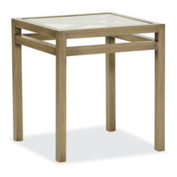 Catalina End Table - From the romantic Catalina Collection, a perfect table for two glasses of wine with cheese or two cups of coffee with pastries. It's just a little time for two.
