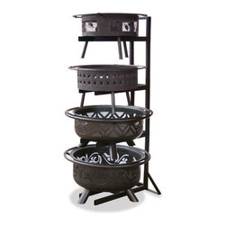 Uniflame - Uniflame OFP-DPY Outdoor Firebowl Display Stand - Outdoor Firebowl Display Stand belongs to Outdoor Living Collection by Uniflame