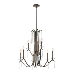 Kichler - Kichler 43289 Tara 2-Tier Candle-Style Chandelier - Product Features: