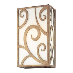 Troy Lighting - Troy Lighting B2752 Pierre 2 Light Hand Worked Wrought Iron 14 Wall Sconce - Hand-Worked Wrought Iron