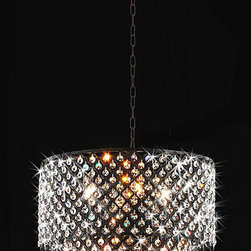 None - Antique Bronze 8-light Double Round Crystal Chandelier - Give your decor a stunning update with this brilliant round crystal chandelier. Featuring an antique bronze finish and two tiers of crystals, this two-tiered indoor lighting fixture is sure to bathe your space in warm light and style.