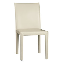 Folio Oyster Bonded Leather Side Chair -