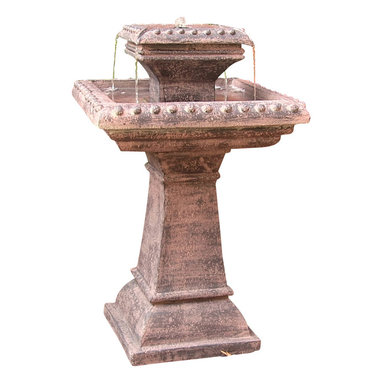 Sunnydaze Decor - Richwell Solar On Demand Fountain - A stately, solar-powered fountain for your front yard garden, side yard patio or backyard hideaway. Only one or two sunny days charges its battery and it'll merrily trickle for up to four hours at a time.