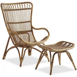 Settle-In Rattan Lounger and Ottoman