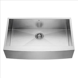 Vigo - VIGO VG3620C Farmhouse Single Bowl Sink - Fully undercoated and padded with unique multi layer sound eliminating technology, which also prevents condensation