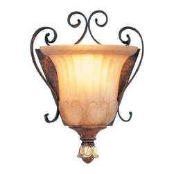 Livex Lighting - Livex Villa Verona Wall Sconce Verona Bronze W/ Aged Gold Leaf Accents -8560-63 - Livex products are highly detailed and meticulously finished by some of the best craftsmen in the business