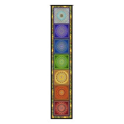 "Circles of Light Imports LLC - Chakra Ladder, Full Color Tapestry as Shown, 11.25"" X 63.25"" Wall Hanging, Chakr - Chakra Ladder"