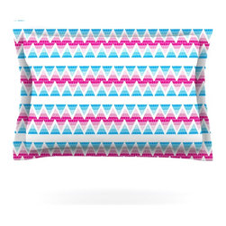 """Kess InHouse - Apple Kaur Designs """"Swimming Pool Tiles"""" Blue Pink Pillow Sham (Cotton, 40"""" x 20 - Pairing your already chic duvet cover with playful pillow shams is the perfect way to tie your bedroom together. There are endless possibilities to feed your artistic palette with these imaginative pillow shams. It will looks so elegant you won't want ruin the masterpiece you have created when you go to bed. Not only are these pillow shams nice to look at they are also made from a high quality cotton blend. They are so soft that they will elevate your sleep up to level that is beyond Cloud 9. We always print our goods with the highest quality printing process in order to maintain the integrity of the art that you are adeptly displaying. This means that you won't have to worry about your art fading or your sham loosing it's freshness."""