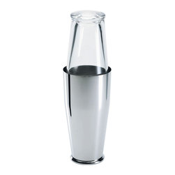 Alessi - Alessi 'Boston' Cocktail Shaker - When it comes to mixing drinks, shake like the professionals. This top-notch shaker features a mixing glass that doubles as the tight-seal lid. You not only get the pleasant sound from the shaker, but you can see your concoction taking shape.