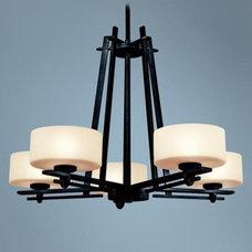 Kichler Natallia Collection 6-Light Large Black Chandelier