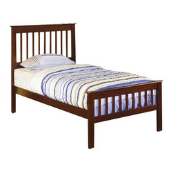 Coaster - Coaster Parker Slat 3 Piece Bedroom In Deep Dark Cappuccino Finish - Coaster - Kids Bedroom Sets - 400290T3PKG - Coaster Parker Twin Slat Bed in Deep Dark Cappuccino Finish (included quantity: 1) This lovely twin size bed will be a nice focal point in the youth bedroom in your home. The cool casual piece has a simple style that will blend easily with any decor, finished in a rich Cappuccino. This durable pine bed will be a long time favorite, with a high headboard and lower profile footboard featuring simple vertical slats. Straight block legs and smooth side tails complete the timeless look of this bed. Add the optional under bed storage unit beneath this bed to help you make the most of your space.