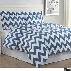 Chevron 3-piece Cotton Duvet Cover Set