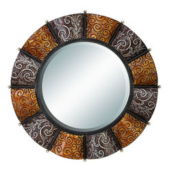 Benzara - Heavily Discounted Metal Mirror - Metal Mirror is an excellent anytime low priced wall decor upgrade option that is high in modern age decor fashion.