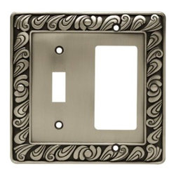 Liberty Hardware - Liberty Hardware 64052 Paisley WP Collection 4.96 Inch Switch Plate - The Paisley design adds a glamorous feel to every room with its tear drop design. The pewter finish brings distinguished style and old world feel to any room. Fasteners are included and sized to fit standard electrical boxes. This family is available in the 10 most popular wall plate configurations. Width - 4.96 Inch, Height - 4.9 Inch, Projection - 0.3 Inch, Finish - Brushed Satin Pewter, Weight - 0.46 Lbs.