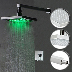 Color Changing LED Shower Faucet with 8 inch Shower Head - Function:	Shower Faucets