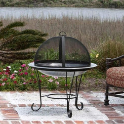 Fire Sense - Fire Sense Stainless Steel Cocktail Fire Pit - Constructed of  commercial grade hand hammered stainless steel, our Stainless Steel Cocktail  Fire Pit enhances any backyard entertaining environment.