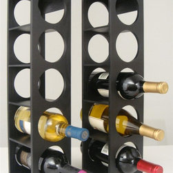 Proman Products - Rutherford Contemporary Wine Rack - Set of 2 - Set of 2. Hold five bottles. Can be stacked on table top or put on the wall. Contemporary simple line design. Made from oak veneer. No assembly required. 5.5 in. W x 5 in. D x 20.75 in. HOne of the most versatile wine racks for wine enthusiasts. Optimize space in your kitchen or in your dining area while still keep your wines visible and accessible.