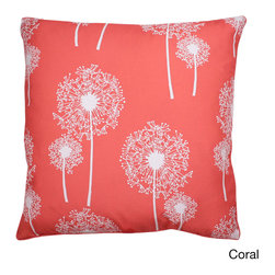 Thro - Dandelion Glitter Print 20-inch Feather Fill Throw Pillow - a stylish and bright accent to your home decor with the Dandelion Glitter print pillow, highlighting a faux linen fabric cover. This attractive accent pillow offers a soft feather fill, and a square shape design.