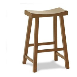 "Tibetan Stool, Medium, Vintage Honey stain - Dramatic angles and comfortable curves give our Tibetan barstool an Eastern style and versatile shape that are at home in any room; made of solid hardwood with rustic visible joinery. Medium: 18"" wide x 15.75"" deep x 27"" high Tall: 18"" wide x 15.75"" deep x 31"" high View our {{link path='pages/popups/fb-dining.html' class='popup' width='480' height='300'}}Furniture Brochure{{/link}}."