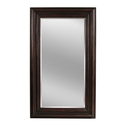 Bassett Mirror Co - Bassett Mirror Co M2932BEC Bolton Square Cocktail BasePierce Collection - The sheer size of the Floor Leaner Mirror makes it the perfect way to add space to any room. This leaning mirror features a cut beveled edge and a dramatic wood frame with a rich Espresso finish. Its functional style is ideal for a variety of d,cor settin