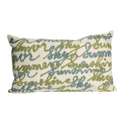 "Trans-Ocean - Amour Cream Pillow - 12""X20"" - The highly detailed painterly effect is achieved by Liora Mannes patented Lamontage process which combines hand crafted art with cutting edge technology.These pillows are made with 100% polyester microfiber for an extra soft hand, and a 100% Polyester Insert.Liora Manne's pillows are suitable for Indoors or Outdoors, are antimicrobial, have a removable cover with a zipper closure for easy-care, and are handwashable."