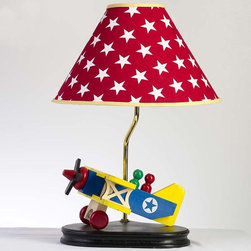 RR - Wooden Airplane Lamp - Wooden Airplane Lamp