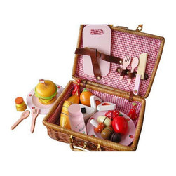 Berry Toys - Berry Toys My Picnic Wooden Play Food Brown - WJ279041 - Shop for Cooking and Housekeeping from Hayneedle.com! Let your kids prepare their own picnic basket with Berry Toys My Picnic Wooden Play Food. They can serve up fruit sandwiches and more on cute strawberry-themed plates. The entire set is made of smooth-sanded solid wood and it comes inside a beautiful rattan picnic basket with a latch and carrying handles. Whether you like to go camping or just eat on the deck get your kids excited about picnics with Berry Toys My Picnic Wooden Play Food.About Berry ToysBased in Chino Hills California Berry Toys is a leading manufacturer of children's toys. Berry Toys aims to educate children through play and their toy selection includes play kitchens play foods musical instruments play tools and more. If you want affordable pricing quality customer service and educational toys that are manufactured according to the highest standards Berry Toys can deliver.