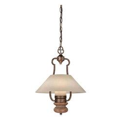 Minka Lavery - Minka Lavery 4208-290 Abbott Place Pendant Light In Classic Oak Patina - Manufacturer: Minka Lavery
