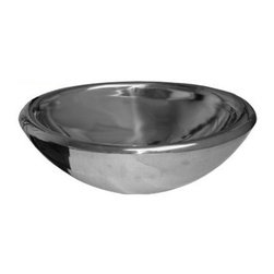 Whitehaus - Noah's Double Layer Above Mount Vessel Bath B - 18/8 chrome and nickel content. No overflow. 1.5 in. center drain. Made from 16 gauge stainless steel. Inside: 17.75 in. L x 12.5 in. W x 6.5 in. H. Outer: 21.5 in. L x 14.75 in. W x 6.5 in. H (24 lbs.). Warranty. Care and Maintenance