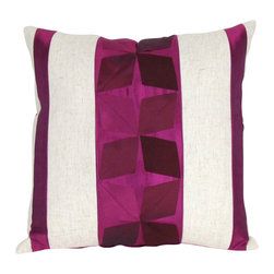 "Wayborn - Wayborn Decorative Pillow 17"" x 17"" in White and Purple - Wayborn - Throw Pillows - 11136 - The Wayborn Decorative Pillow is perfect to enhance your living room or bedrooms decor. Mix and match with other Wayborn pillows to create that personal touch."