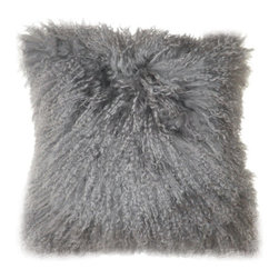 """Moe's Home Collection - Lamb Fur Wool Pillow (Set of 2) - Soft furry decorative cushion. Features: -Front material: 100% Wool. -Back and filling material: 100% polyester. -1 Year warranty. Dimensions: -16"""" H x 16"""" W x 1"""" D, 1.43 lbs."""