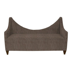 Howard Elliott - Coco Manhattan Bench w/ Bronze Tacks - Lounge in style on our Manhattan Bench. Its sturdy size and construction make it perfect for any sitting room. Accented with Bronze Tacks. Seat height is 20, seat depth is 27.