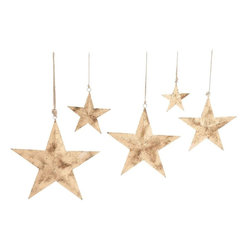 "Benzara - Sparkling Contemporary Styled Hanging Metal Star - Check out this amazing styled metal star that will spruce up your interiors. Made of quality metal these stars are durable and add glitter to your room space. These stars are polished in peach color palette with smart wear off texture that adds to its beauty. The metal star comprises of rope and thus can be hanged anywhere in a place of your choice; living space, bedrooms, kid's room. The stars will beautify the space and catch hold eyes of many. Guests and other friends paying a visit to your place will be surprised to check out this lovely metal star at your place. You can also wrap this metal star to your near and dear ones. This metal star will surely make you win appreciations from many. Did you get one?. Dazzling metal star measures 18 inches (W) x 3 inches (D) x 30 inches (H), 15 inches (W) x 2.4 inches (D) x 24 inches (H); Made of quality metal; Peach color palette; Dimensions: 34""L x 4""W x 10""H"