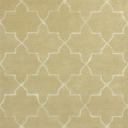 Camilla Trellis with Silk-Like Viscose Rug, Ivory - This pretty and neutral Moroccan print rug is very Madeline Weinrib, but at a much nicer price!