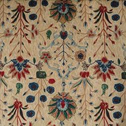 Lee Jofa - Lee Jofa Persian Print Linen in Cane - 5.625 Yards - BO4 - Yardage: 5.625 yards