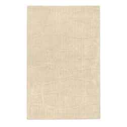 Surya Rugs - Sculpture Designer Hand Loomed 100% Wool Ivory Rug SCU-7504 - 100% Wool. Style: Designer. Rugs Size: 5' x 8'. Note: Image may vary from actual size mentioned.