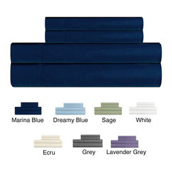 None - Rayon from Bamboo Queen-size Sheet Set - Get a good night's sleep every night on this plush queen-size sheet set. The solid-patterned sheets are made of rayon from bamboo that makes the sheets soft,and they come in multiple colors so that you can match your current decor.