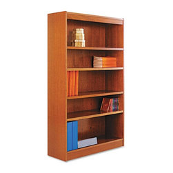 Alera - Alera BCS56036MC Square Corner Wood Veneer Bookcase - Medium Cherry Multicolor - - Shop for Bookcases from Hayneedle.com! About AleraWith the goal of meeting the needs of all offices -- big or small casual or serious -- Alera offers an excellent line of furnishings that you'll love to see Monday through Friday. Alera is committed to quality innovative design precision styling and premium ergonomics ensuring consistent satisfaction.